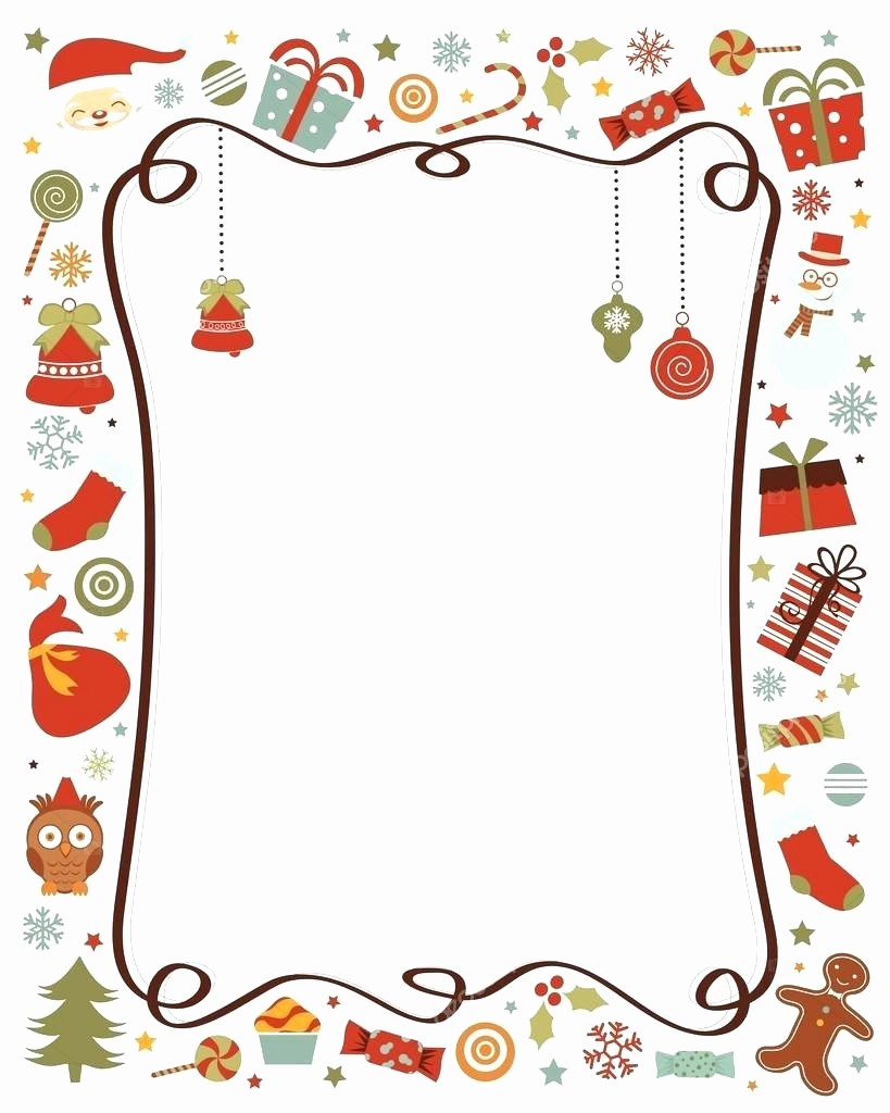 Holiday Paper Templates Free Download Lovely Template Borders for Word Documents Template