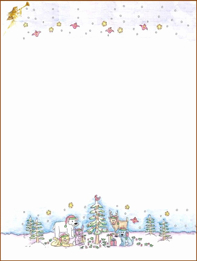 Holiday Paper Templates Free Download Luxury 7 Best Of Free Printable Christmas Stationary