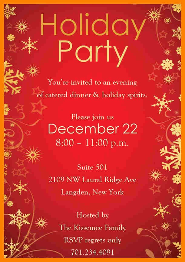 Holiday Party Invitations Template Word Awesome Christmas Party Invitation Templates Free Word – Halloween