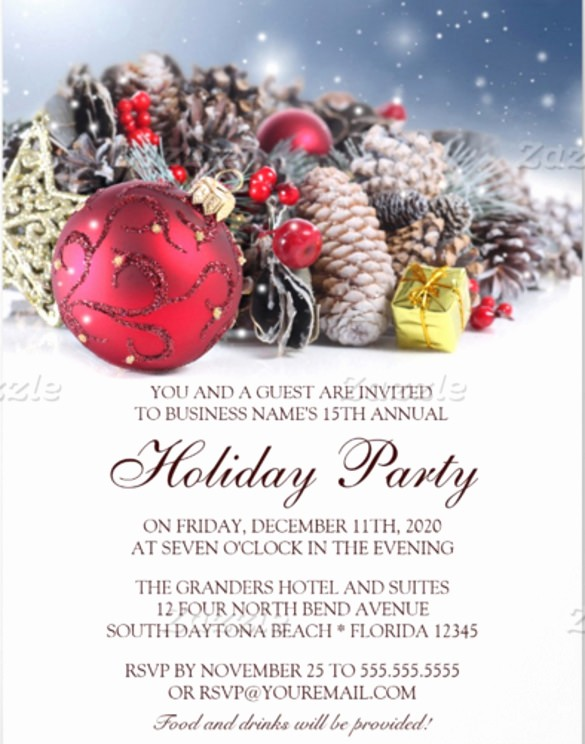Holiday Party Invitations Template Word Beautiful 23 Business Invitation Templates – Free Sample Example