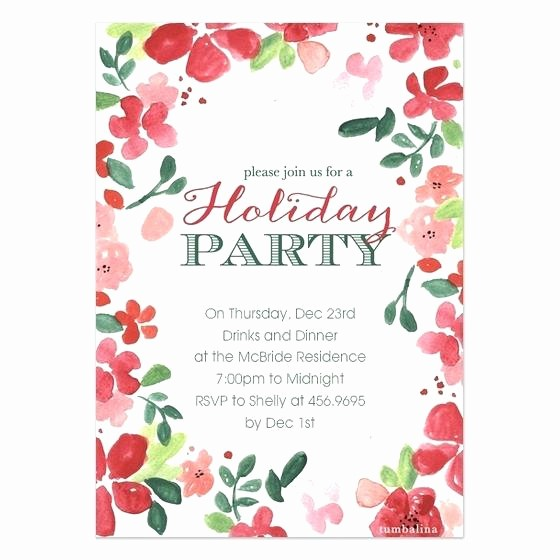 view larger christmas party invitation template word