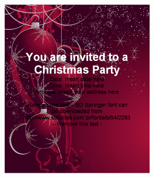 Holiday Party Invitations Template Word Best Of Beautiful Christmas Party Invitation Card