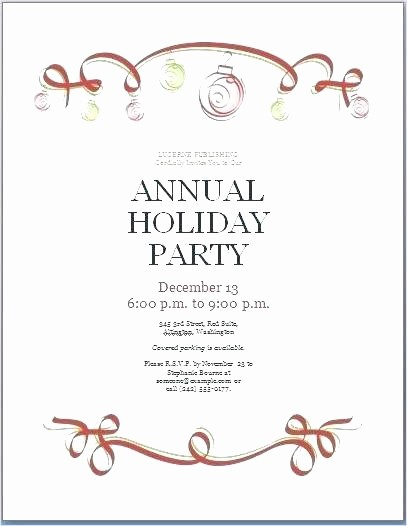 Holiday Party Invitations Template Word Best Of Fice Christmas Party Invitation Wording Samples
