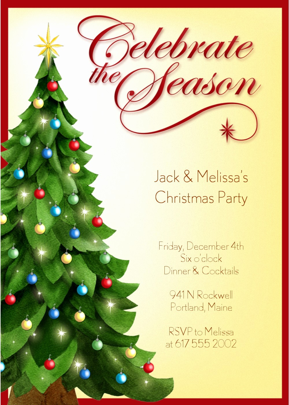 Holiday Party Invitations Template Word Inspirational Christmas Party Invitation Templates Free Word