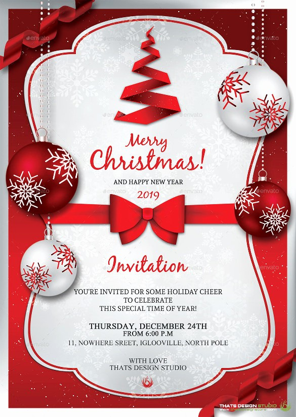 Holiday Party Invitations Template Word Lovely 20 Christmas Invitation Templates Free Sample Example