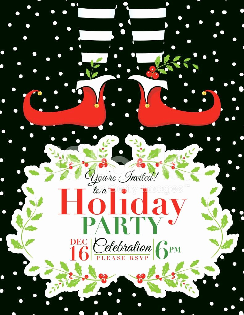 Holiday Party Invitations Template Word Lovely Christmas Party Invitation Template