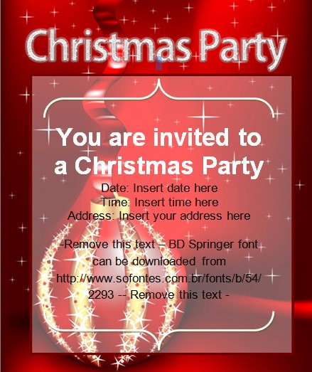 Holiday Party Invitations Template Word Luxury Christmas Party Invitation Card Christmas Cards