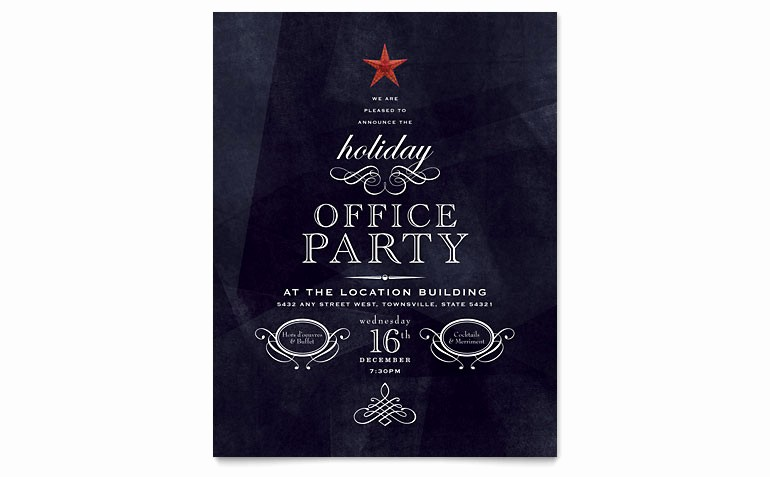 Holiday Party Invitations Template Word Luxury Fice Holiday Party Flyer Template Word & Publisher