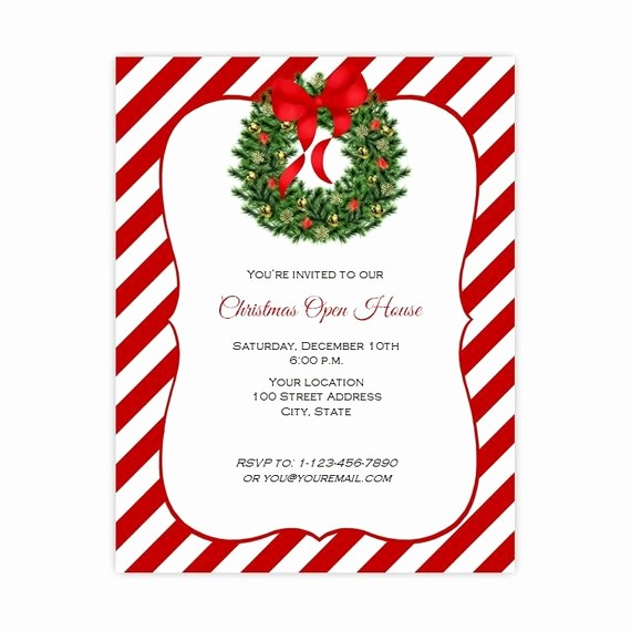 Holiday Party Invitations Template Word New Christmas Invitation Flyer Holiday Party Flyer 8 5 X 11