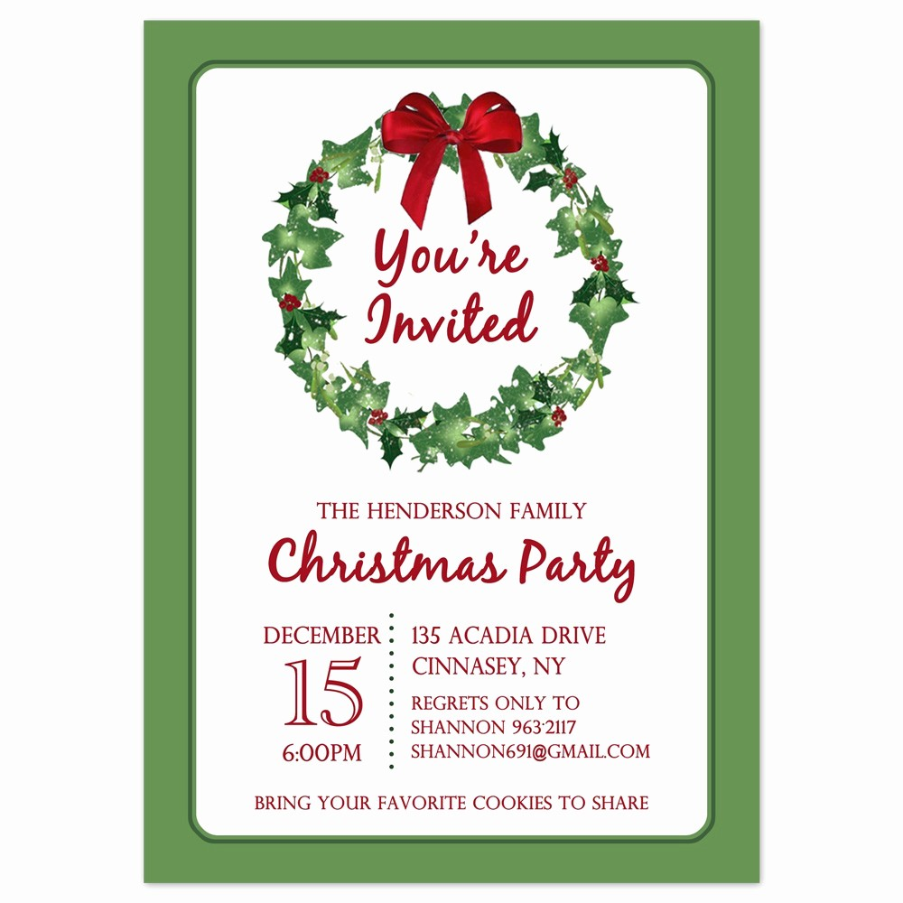 Holiday Party Invitations Template Word New Free Printable Christmas Borders for Invitations