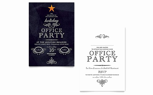 Holiday Party Invitations Template Word New Invitation Templates Microsoft Word & Publisher Templates