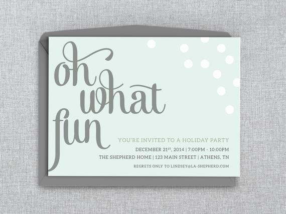 Holiday Party Invitations Template Word Unique Holiday Party Invitation Printable Word Template Oh What