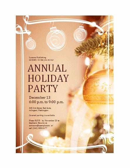 Holiday Party Invitations Template Word Unique Word Christmas Party Invitation Template