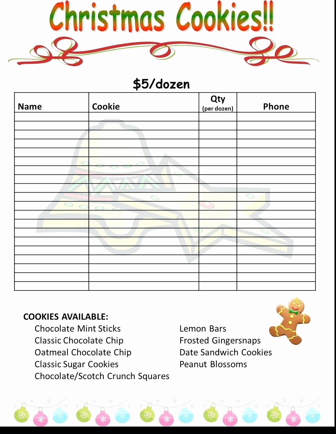 Holiday Party Sign Up Sheet Best Of Printable Christmas Party Printable Sign Up Sheet
