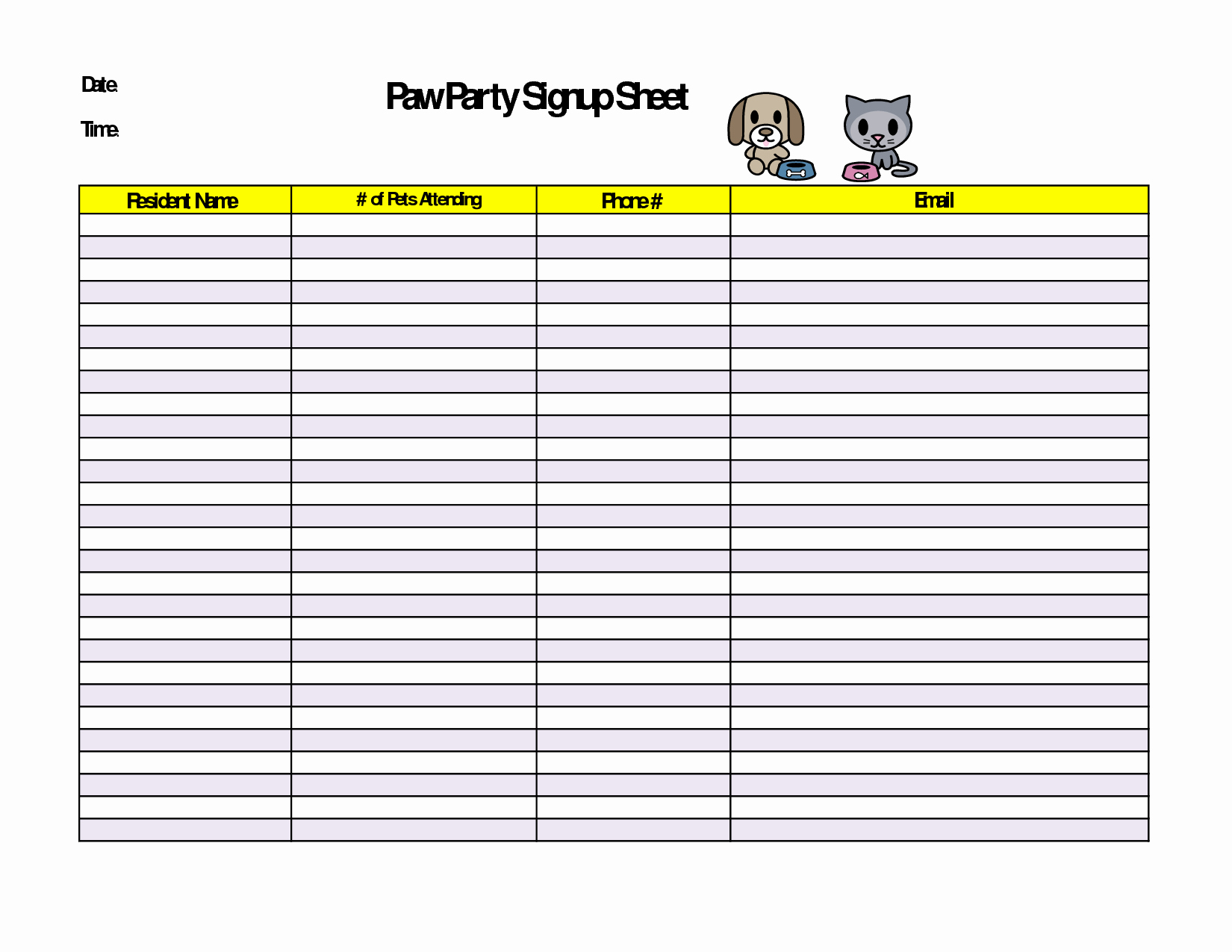 Holiday Party Sign Up Sheet New 6 Best Of Christmas Party Printable Sign Up Sheet