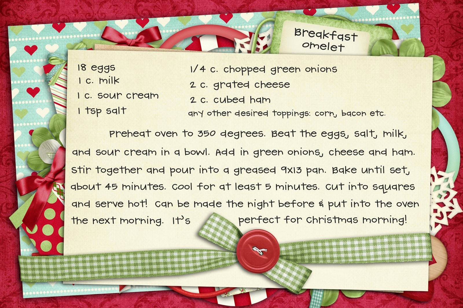 Holiday Recipe Card Template Free Beautiful 10 Best Of Editable Printable Recipe Card Template