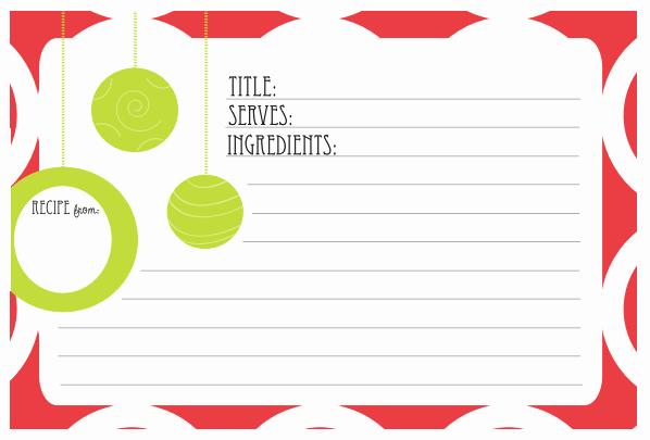 Holiday Recipe Card Template Free Beautiful 6 Best Of Printable Holiday Recipe Card Template