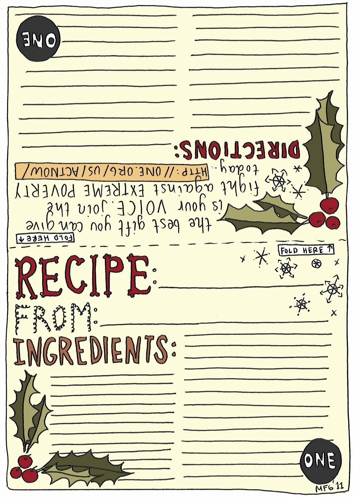 Holiday Recipe Card Template Free Beautiful What S Cooking In Your World December 2011