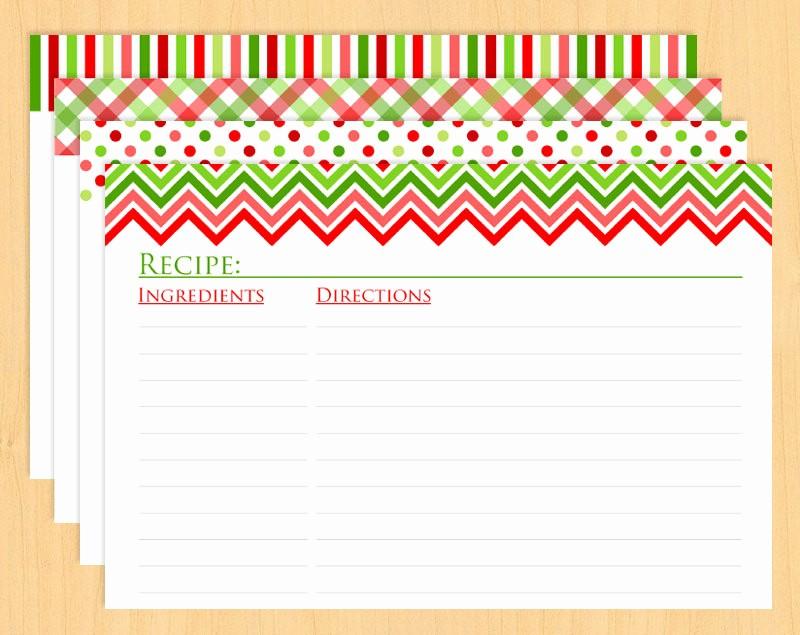 Holiday Recipe Card Template Free Elegant 15 Recipe Card Designs