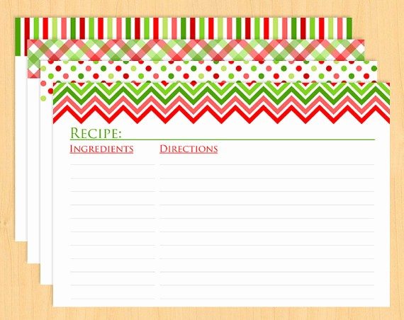 Holiday Recipe Card Template Free Elegant 6 Best Of Printable Recipe Cards Christmas Free
