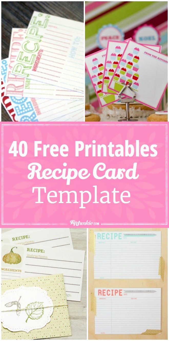 Holiday Recipe Card Template Free Fresh 40 Recipe Card Template and Free Printables – Tip Junkie
