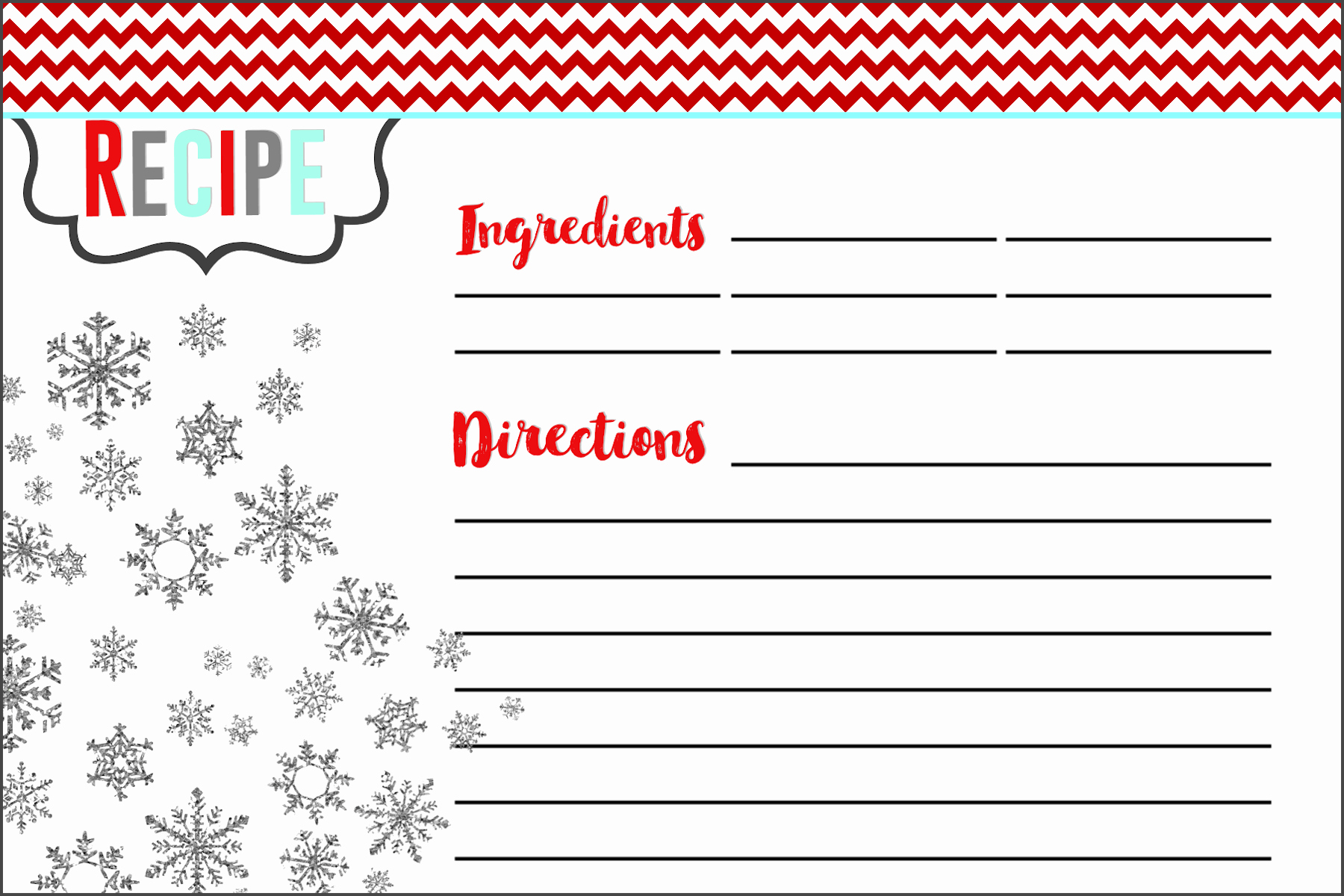 Holiday Recipe Card Template Free Fresh Everything You Need to Know to Host A Holiday Cookie Swap