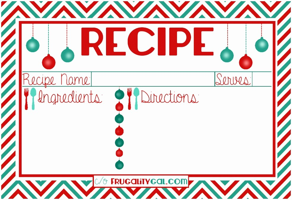 Holiday Recipe Card Template Free Luxury 12 Christmas Recipe Cards Free Templates Etiap