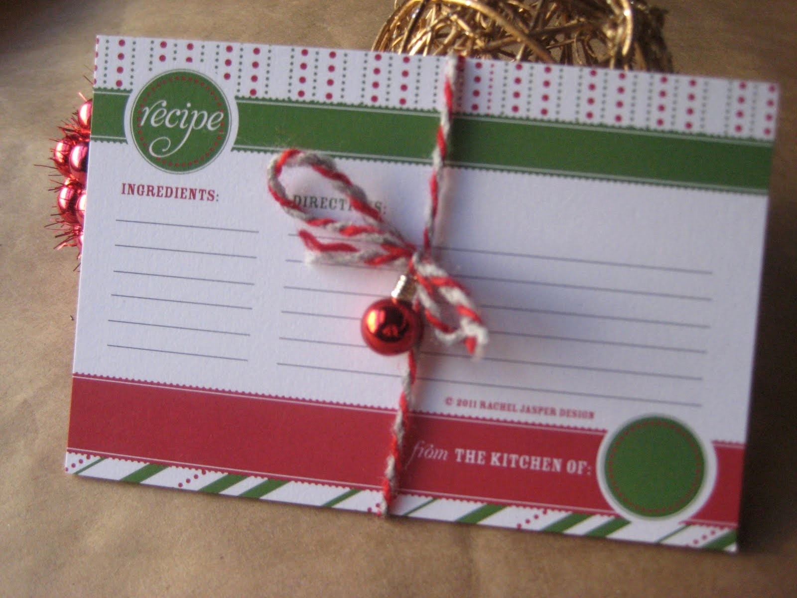 Holiday Recipe Card Template Free Unique 6 Best Of Customizable Printable Christmas Recipe