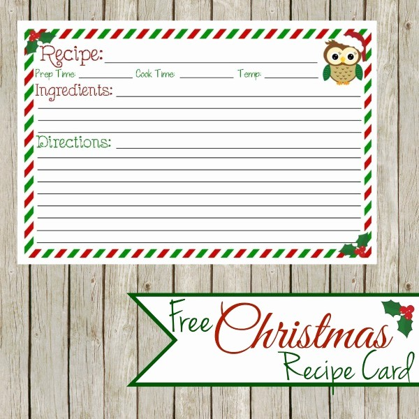 Holiday Recipe Card Template Free Unique Menu Plan Monday Dec 15 14