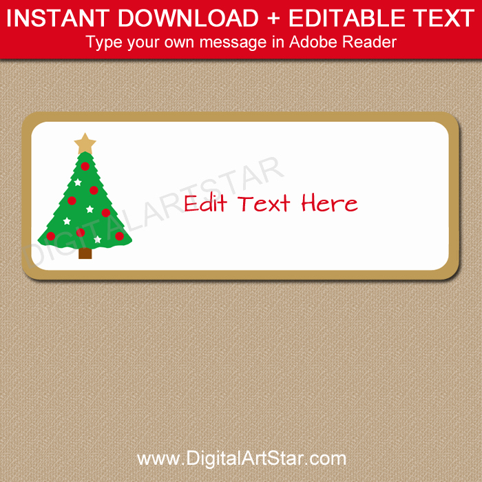 Holiday Return Address Label Templates Awesome Christmas Tree Address Labels