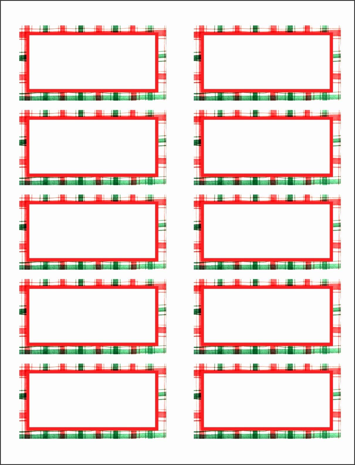 Holiday Return Address Label Templates Elegant 8 Free Christmas Address Labels Templates