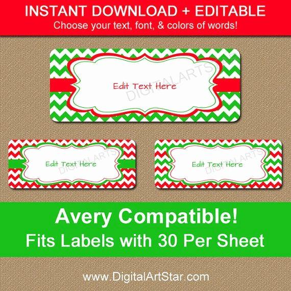Holiday Return Address Label Templates Elegant Printable Christmas Address Labels Editable Holiday