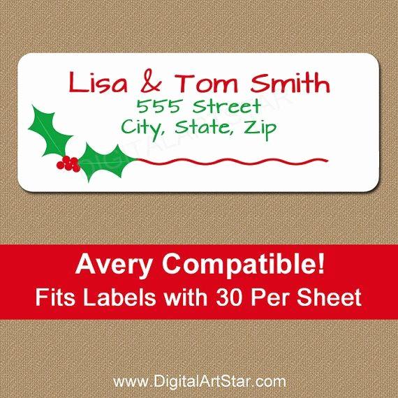 Holiday Return Address Label Templates Fresh Best 25 Christmas Address Labels Ideas On Pinterest