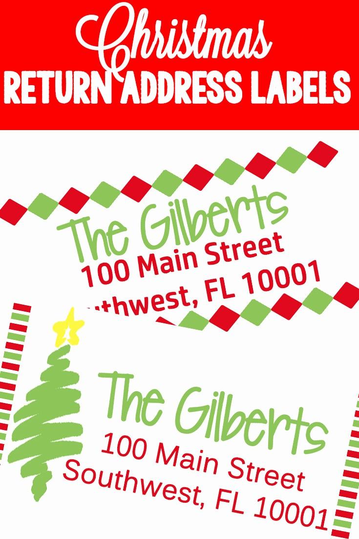 Holiday Return Address Label Templates Fresh Christmas Return Address Labels