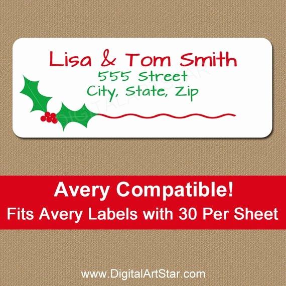 Holiday Return Address Label Templates Inspirational Christmas Address Labels Printable Christmas by Digitalartstar