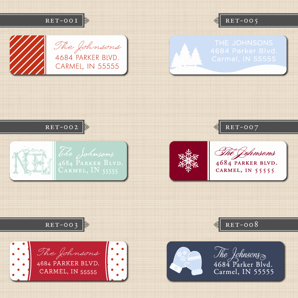 Holiday Return Address Label Templates Lovely Belletristics Stationery Design and Inspiration for the
