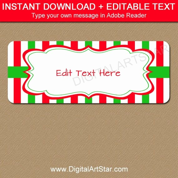 Holiday Return Address Label Templates New Christmas Address Labels Printable Holiday Return