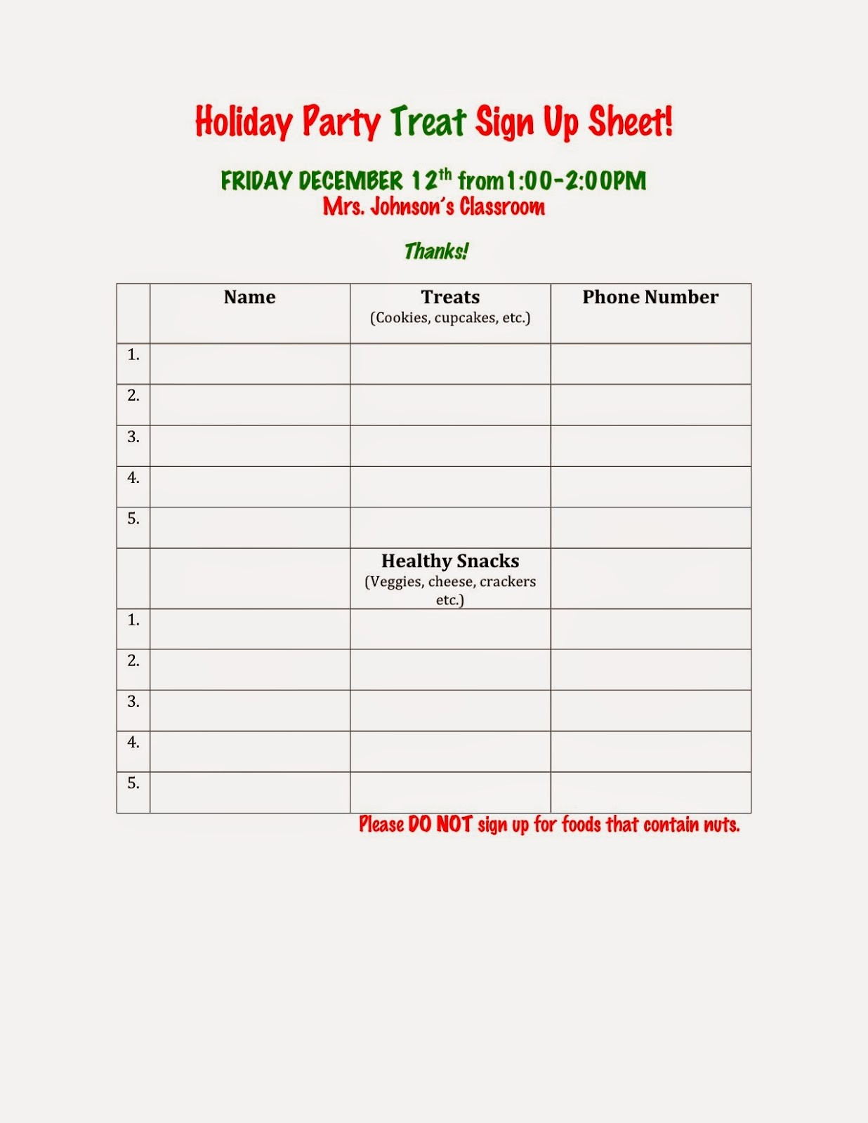 Holiday Sign Up Sheet Template Awesome How to Make A Signup Sheet Bamboodownunder