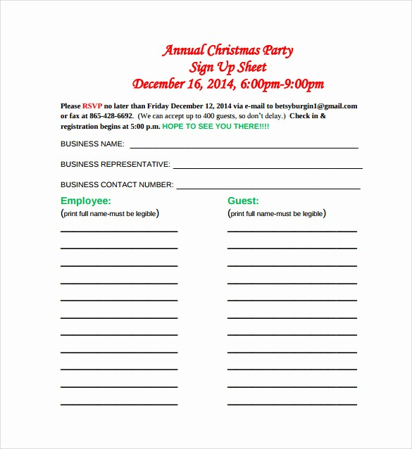 Holiday Sign Up Sheet Templates Inspirational 23 Sample Sign Up Sheet Templates – Pdf Word Pages
