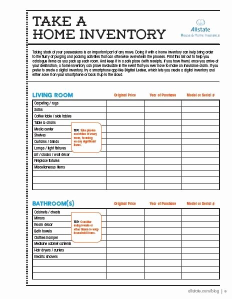 Home Contents Inventory List Template Best Of Here is A Printable Home Inventory Checklist so You Can
