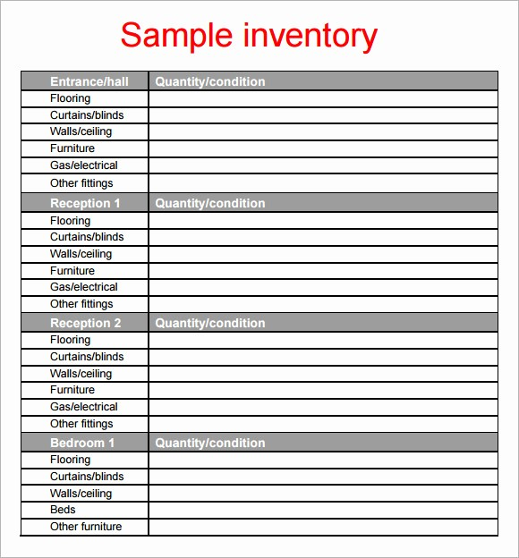 Home Contents Inventory List Template New 10 Property Inventory Templates