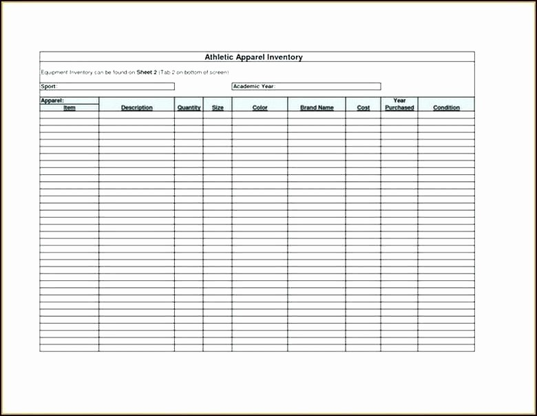 Home Contents Inventory List Template Unique Personal Property Inventory List Template Household Moving
