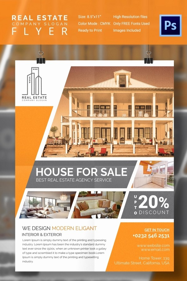 Home for Sale Flyer Templates Awesome 15 Stylish House for Sale Flyer Templates & Designs