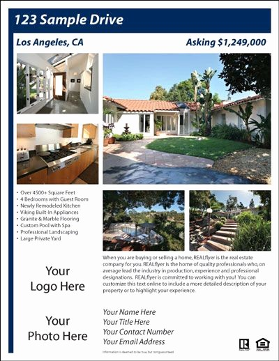Home for Sale Flyer Templates Best Of for Sale by Owner Flyer House Exterior