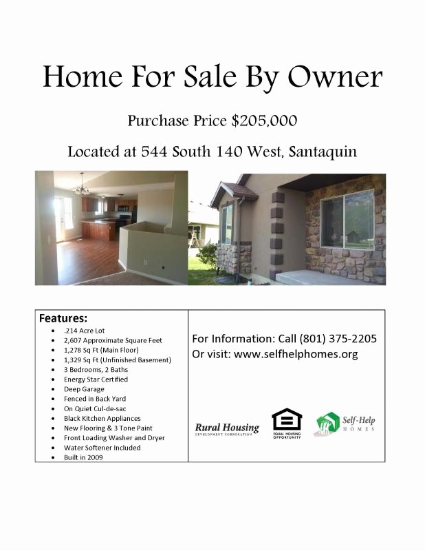 Home for Sale Flyer Templates Elegant Home for Sale Flyer