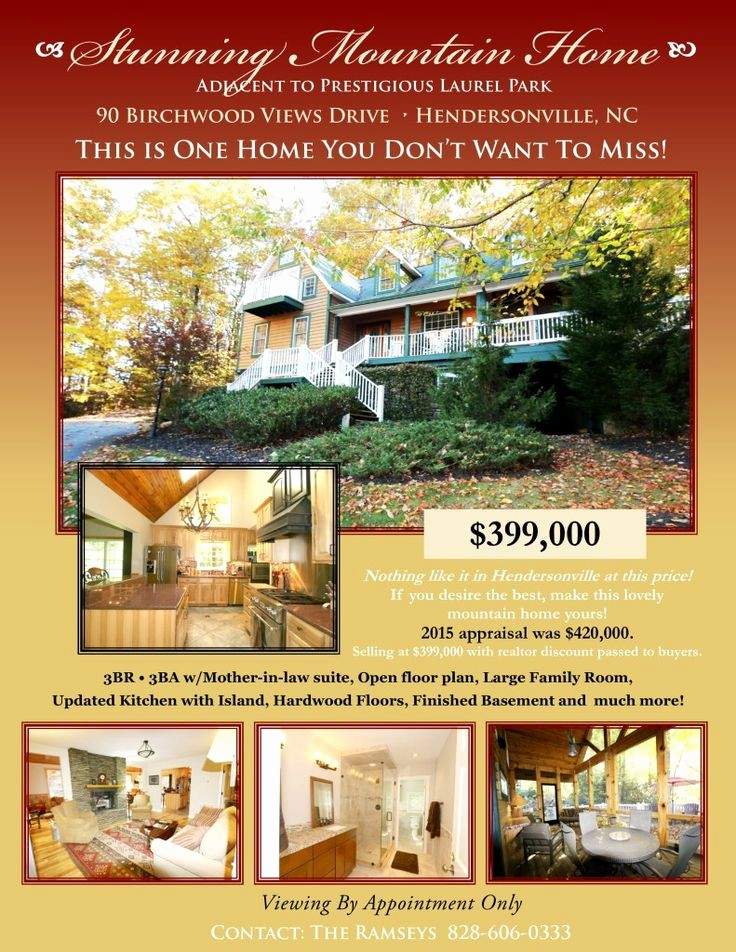Home for Sale Flyer Templates Inspirational 11 Best Hendersonville Nc Homes for Sale Images On