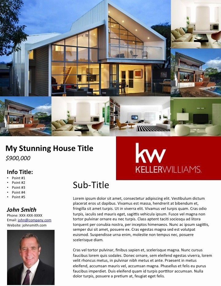 Home for Sale Flyer Templates Inspirational Free Real Estate Flyer Templates Broker
