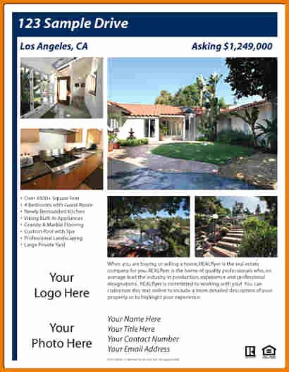 Home for Sale Flyer Templates Inspirational Real Estate Flyer Templates Free