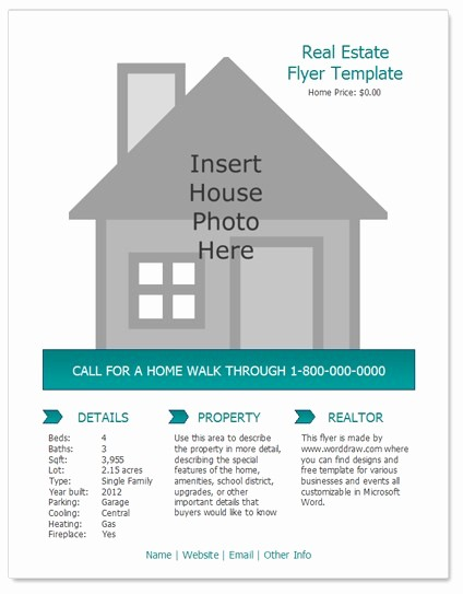 Home for Sale Flyer Templates Lovely 24 Stunning Real Estate Flyer Templates Demplates