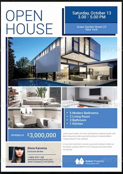 Home for Sale Flyer Templates Lovely Sample Real Estate Flyer at Open House